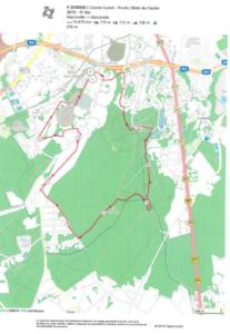 Parcours 11 km bois du Cazier
