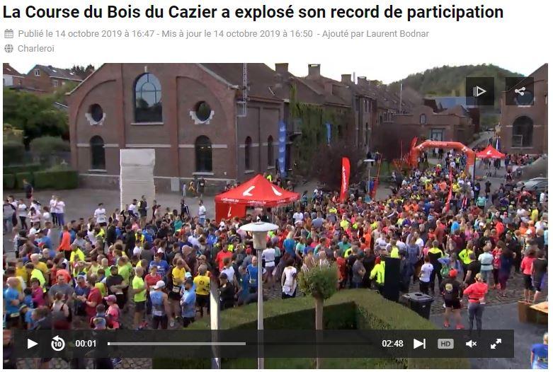 Reportage Télésambre course du Cazier